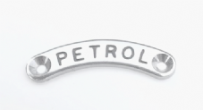 'Petrol' Metal legend plate label